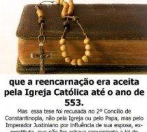 """Refutação de poster: """"A Igreja Católica e a reencarnação"""""""