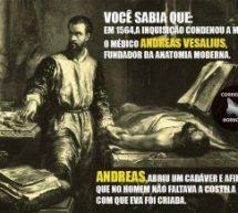 """Desmascarando poster ateu: Andreas Vesálio foi """"condenado à morte pela Inquisição""""?"""