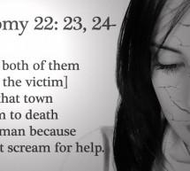 Deuteronômio 22,23-29: Esta passagem permite o estupro?